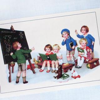 フランス 雑貨 フランスポストカード(J'etudie B)