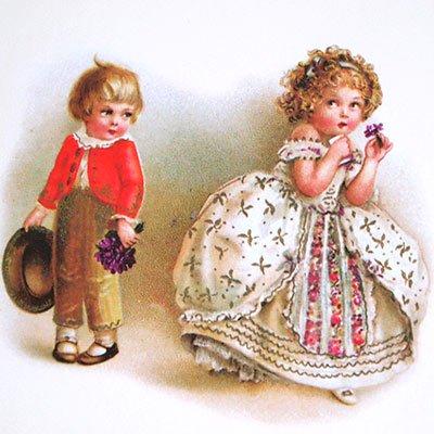 フランスポストカード (Bonne fete B)