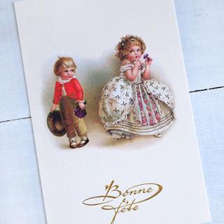 ガーリー 雑貨  フランスポストカード (Bonne fete B)