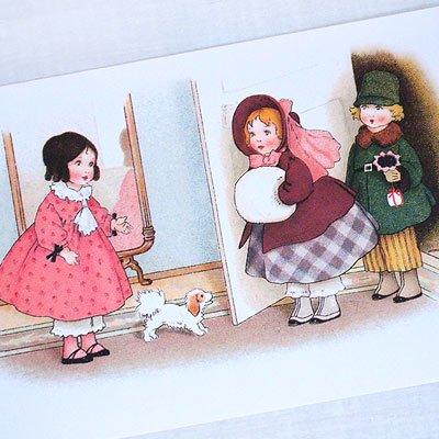 フランスポストカード 訪問 犬(Bienvenue C)