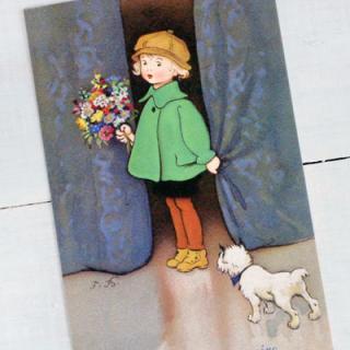 ポストカード/絵本・挿絵 系 フランスポストカード (Joyeux anniversaire R)