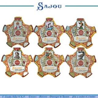 SAJOU(サジュー)手芸 フランス SAJOU (糸巻き6ヶセット)【 CF-16 CAEN】