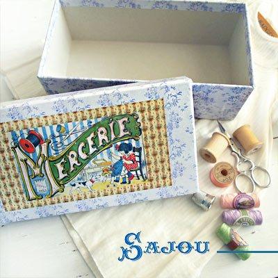 フランス SAJOU ストレージボックス 裁縫箱【mercerie】