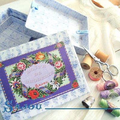 フランス SAJOU ストレージボックス 裁縫箱【fleur】