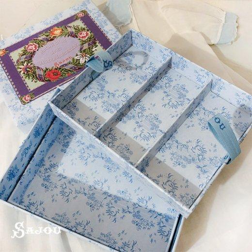 フランス SAJOU ストレージボックス 裁縫箱【fleur】【画像3】