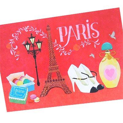 フランス エッフェル塔 ポストカード (Nos souvenirs de Paris E-type)【画像2】
