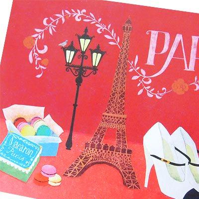 フランス エッフェル塔 ポストカード (Nos souvenirs de Paris E-type)【画像3】