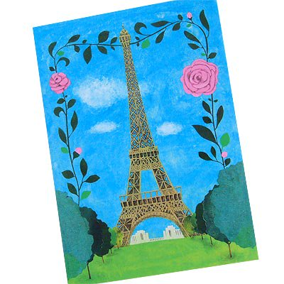 フランス エッフェル塔 ポストカード (Nos souvenirs de Paris B-type)【画像2】