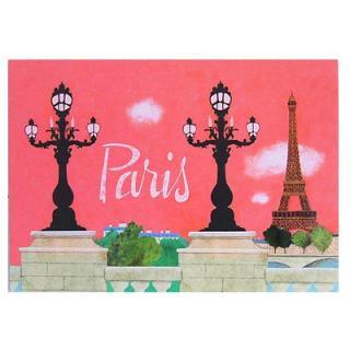 ポストカード/フレンチ フランス エッフェル塔 ポストカード (Nos souvenirs de Paris A-type)