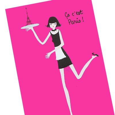 フランス エッフェル塔 ポストカード(Ca, c'est Paris! A-type)【画像2】