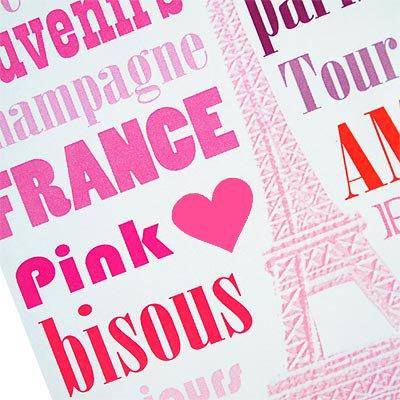 フランス エッフェル塔 ポストカード (Paris en rose)【画像3】