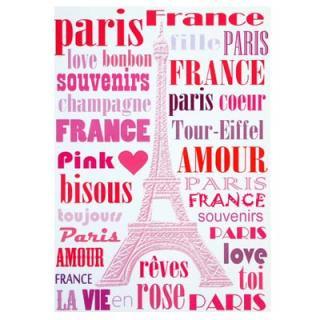 フランス エッフェル塔 ポストカード (Paris en rose)