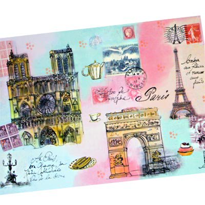 フランス エッフェル塔 ポストカード(J'aime Paris A)【画像2】