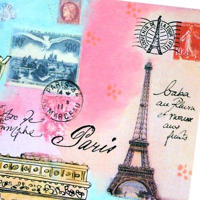 フランス エッフェル塔 ポストカード(J'aime Paris A)【画像3】