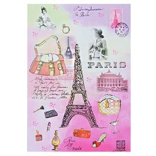 フランス エッフェル塔 ポストカード(J'aime Paris B)