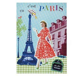 再入荷  フランス エッフェル塔 ポストカード (Ca, c'est Paris! B-type)