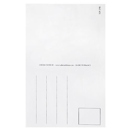 フランスポストカード 黒板 キノコ クローバー(J'etudie D)【画像4】