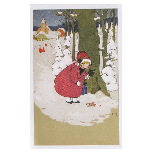 フランス クリスマスポストカード 蹄鉄 楓 馬蹄(Joyeux Noel L)