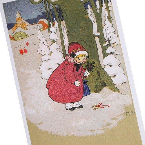 フランス クリスマスポストカード 蹄鉄 楓 馬蹄(Joyeux Noel L)【画像2】
