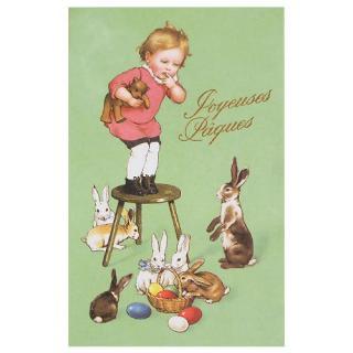 フランス イースター 復活祭 ポストカード (Paques J)