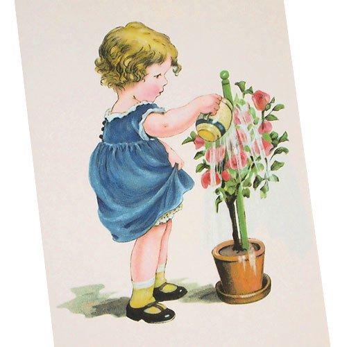 フランスポストカード (arroser des fleurs)【画像2】