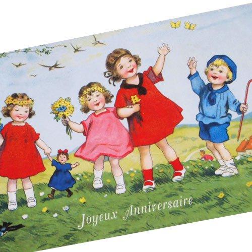フランスポストカード (Joyeux Anniversaire P)【画像2】