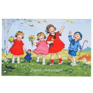 バースディー フランスポストカード (Joyeux Anniversaire P)
