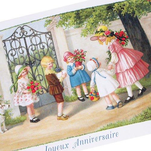 フランスポストカード (Joyeux Anniversaire L)【画像2】