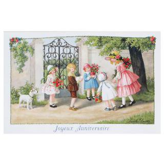 バースディー フランスポストカード (Joyeux Anniversaire L)