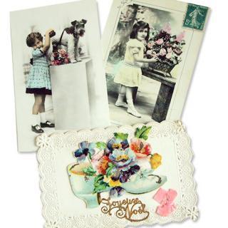 フランス アンティーク ポストカード3枚セット【primping】