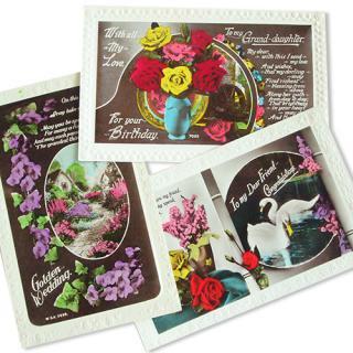 イギリス 雑貨 イギリス アンティーク ポストカード3枚セット【cygne】