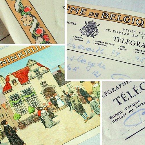 ベルギー 1950年代 ヴィンテージ 電報(2種類あり)【画像2】
