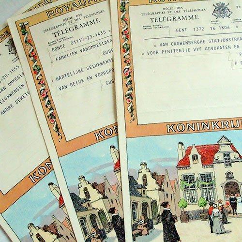 ベルギー 1950年代 ヴィンテージ 電報(2種類あり)【画像3】