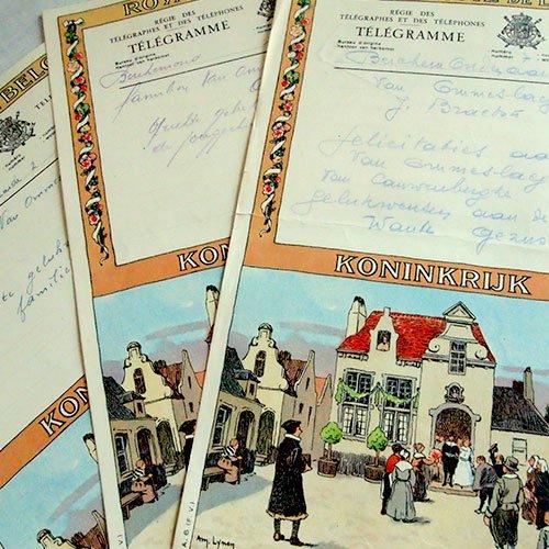 ベルギー 1950年代 ヴィンテージ 電報(2種類あり)【画像4】