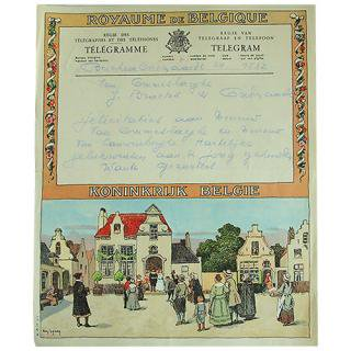 味紙 ラベル チケット 伝票 ベルギー 1950年代 ヴィンテージ 電報(2種類あり)