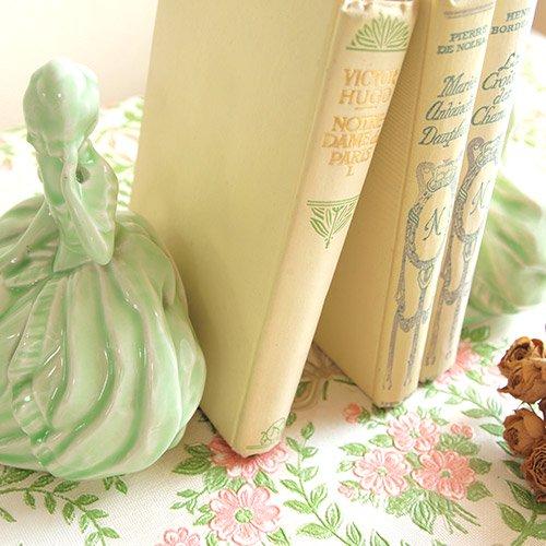イギリス ヴィンテージ ヴィクトリアン 陶器製ブックエンド 【送料無料】【画像3】