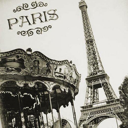 フランス エッフェル塔 ポストカード カルーセル メリー・ゴー・ラウンド(Tour Eiffel et carrousel)【画像2】