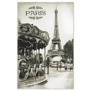 フランス エッフェル塔 ポストカード カルーセル メリー・ゴー・ラウンド(Tour Eiffel et carrousel)
