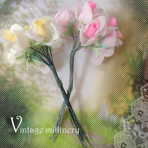 ベルギー ヴィンテージ ミリネリー(フェイクフラワー)【ローズ/バラ】【画像2】