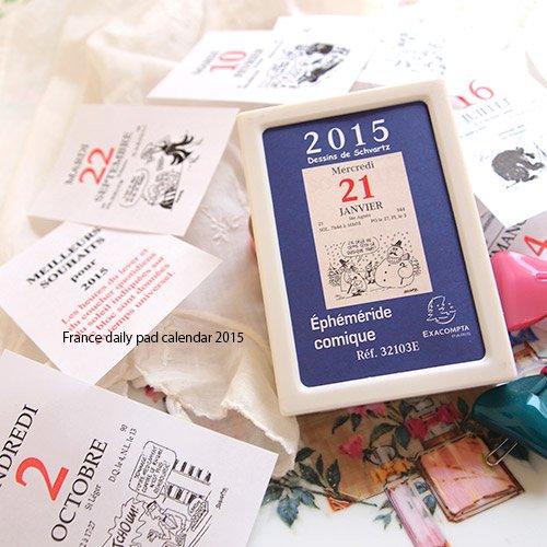 フランス日めくりカレンダー 2015