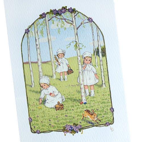 フランス イースター 復活祭 ポストカード (Paques K)【画像2】