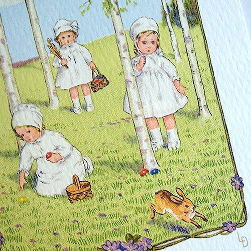 フランス イースター 復活祭 ポストカード (Paques K)【画像3】