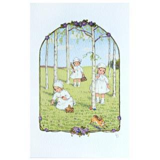 フランス イースター 復活祭 ポストカード (Paques K)