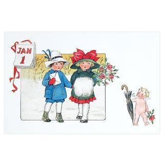 天使 エンジェル 雑貨 フランスポストカード 天使 カレンダー バラ(calendrier)