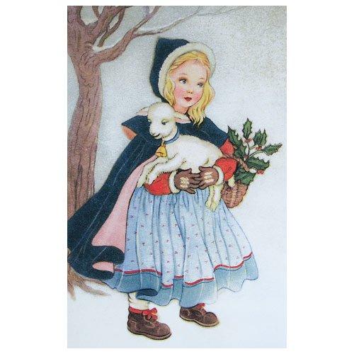フランス クリスマスポストカード 子羊(Joyeux Noel N)