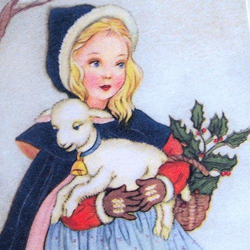フランス クリスマスポストカード 子羊(Joyeux Noel N)【画像3】
