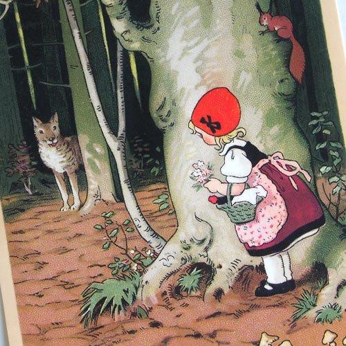 フランスポストカード (Le Petit Chaperon rouge)【画像3】