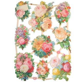 ドイツ クロモス【M】<バラの花束 A-type>