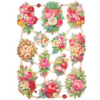 バラ ローズ 雑貨 ドイツ クロモス【M】<バラの花束 B-type>