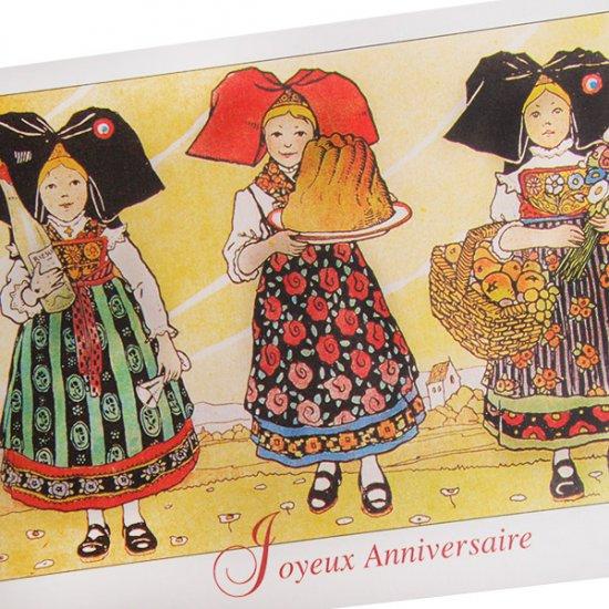フランスポストカード (ハンジ HANSi joyeux anniversaire A)【画像2】